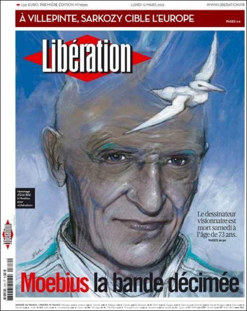 Bilal pour Moebius dans Libération