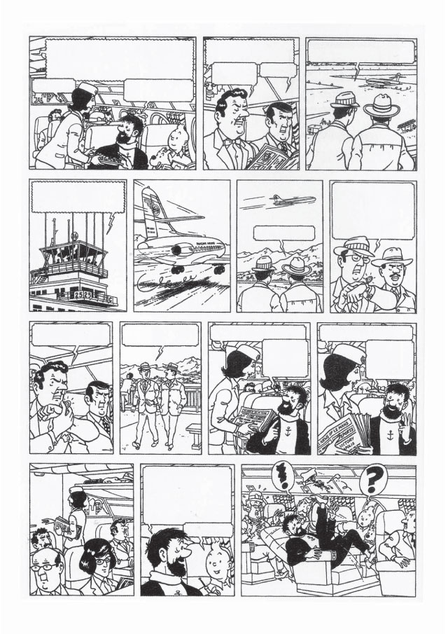 fausse planche tintin