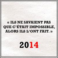Les quatorze de 2014