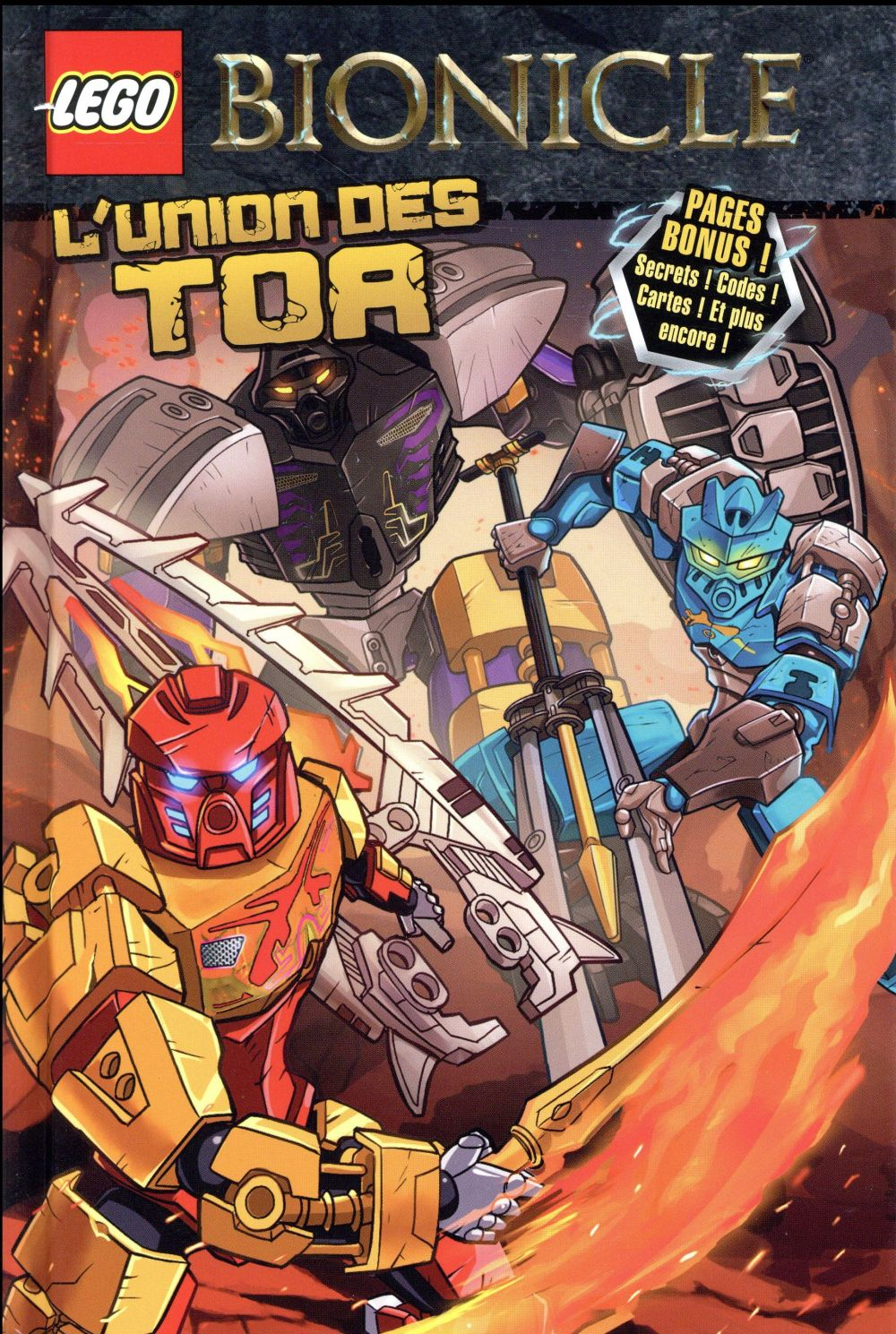 Couverture Lego - Bionicle tome 1 - L'union des Tor