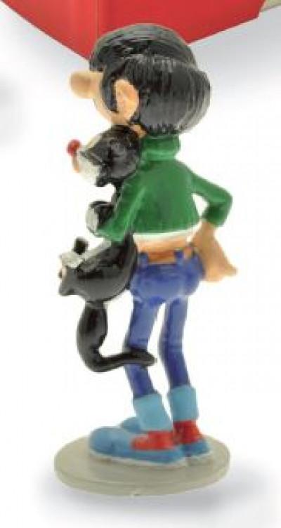 Page 1 Figurine Gaston et son chat