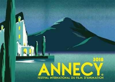Couverture Affiche festival animation Annecy 2018 numérotée et signée