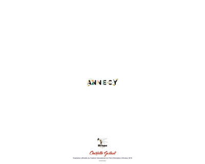 Dos Affiche signée Festival Animation Annecy