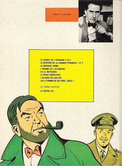 Couverture Blake et Mortimer (Historique) tome 5 - La Marque Jaune (éd. 1978)