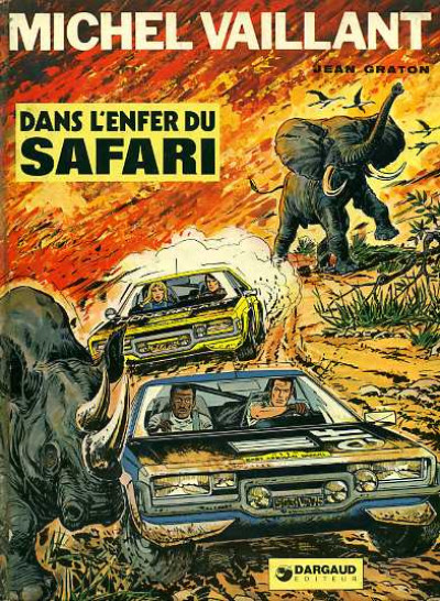 Couverture Michel Vaillant tome 27 - Dans l'enfer du safari (éd. 1975)