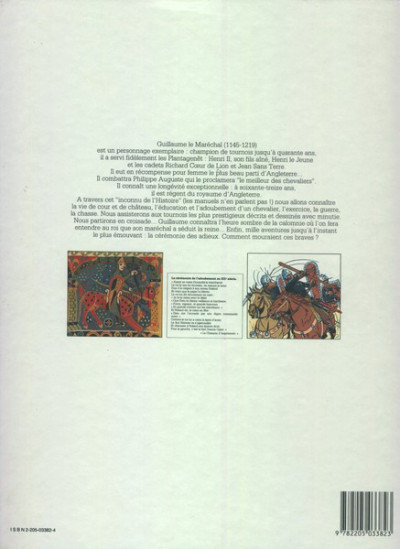 Couverture Guillaume le maréchal - Guillaume le Maréchal (éd. 1987)
