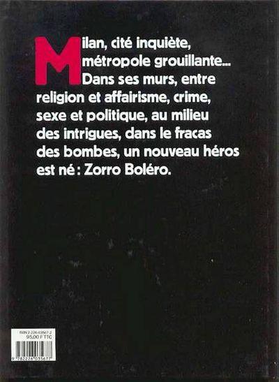 Couverture Zorro bolero