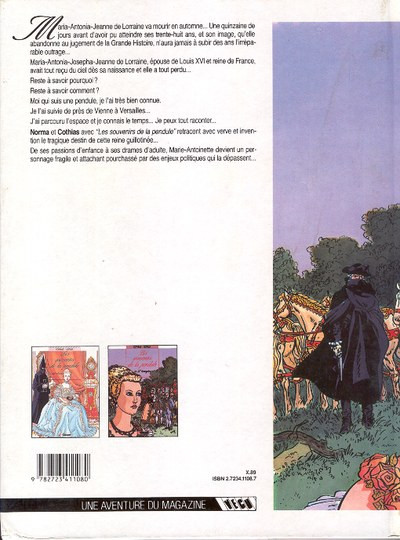 Couverture Souvenirs de la pendule (Les) tome 2 - L'étrangère (éd. 1989)