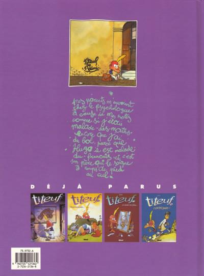 Couverture Titeuf tome 5 - et le derrière des choses (éd. 1996)