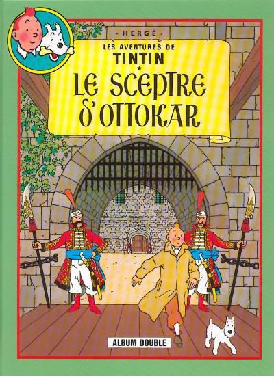 Couverture Tintin (France Loisirs 1987) tome 9 - Le sceptre d'Ottokar / L'affaire Tournesol (éd. 1988)