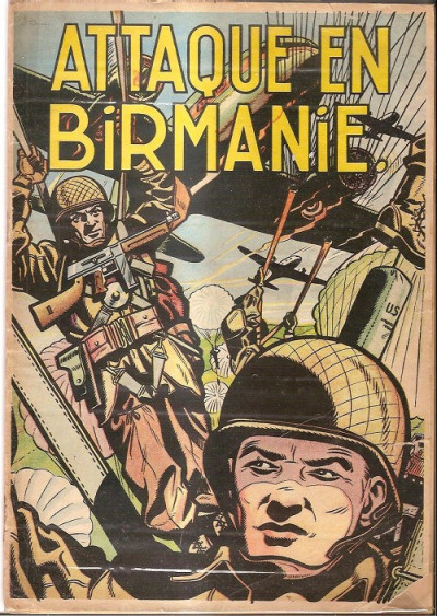 Couverture Buck Danny tome 6 - Attaque en Birmanie (éd. 1953)