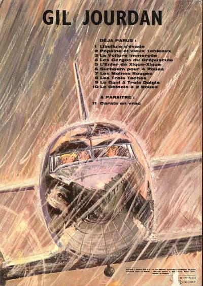 Couverture Gil Jourdan tome 10 - Le Chinois à 2 roues (éd. 1967)