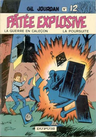 Couverture Gil Jourdan tome 12 - Pâtée explosive (éd. 1971)