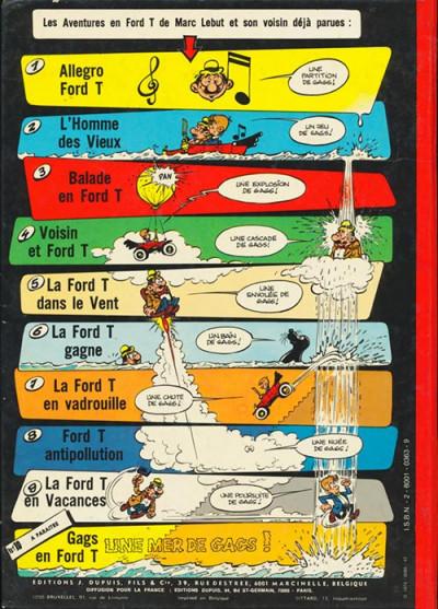 Couverture Marc Lebut et son voisin tome 9 - La Ford T en vacances (éd. 1974)