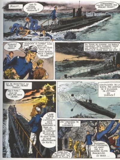 Couverture Histoire en Bandes Dessinées (L') tome 4 - L'enfer sur mer (éd. 1975)