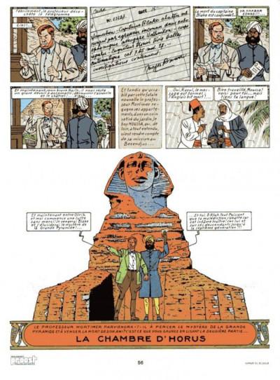 Couverture Blake et Mortimer (Historique) tome 3 - Le Mystère de la Grande Pyramide - 1re partie (éd. 1982)
