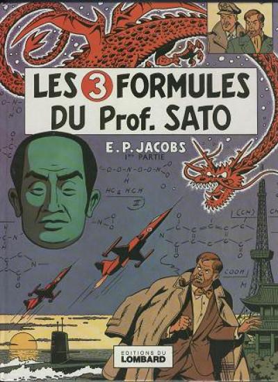 Couverture Blake et Mortimer (Historique) tome 10 - Les 3 Formules du professeur Sato - 1re partie (éd. 1977)