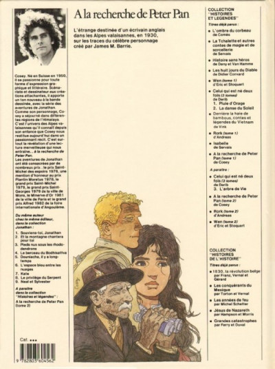 Couverture A la recherche de Peter Pan tome 1 - A la recherche de Peter Pan 1 (éd. 1984)