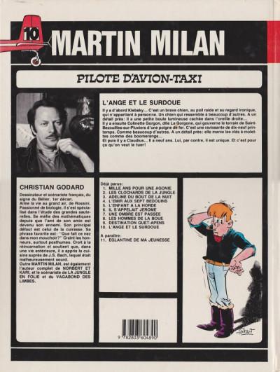 Couverture Martin Milan (2e Série) tome 10 - L'ange et le surdoué (éd. 1985)