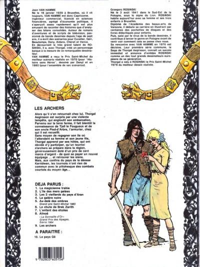 Couverture Thorgal tome 9 - Les archers (éd. 1985)