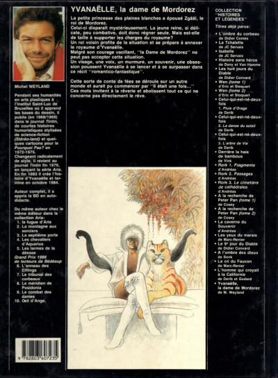 Couverture Yvanaëlle - La dame de Mordorez (éd. 1988)