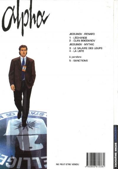 Couverture Alpha tome 1 - L'échange (éd. 2000)