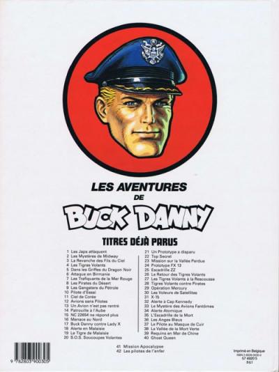 Couverture Buck Danny tome 43 - Le feu du ciel (éd. 1986)