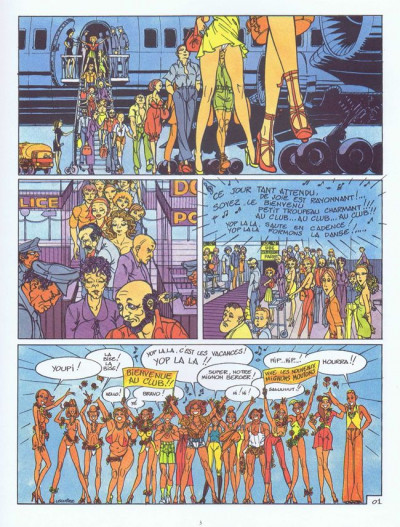 Couverture Famille Freudipe (La) tome 3 - La famille Freudipe au club (éd. 1984)