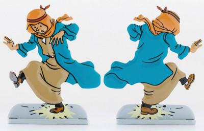 Page 9 Tintin Relief ; Tintin au Pays de l'Or Noir
