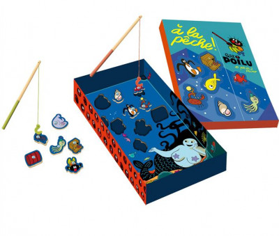 image de Petit Poilu - Puzzle en bois - Pêche magnétique