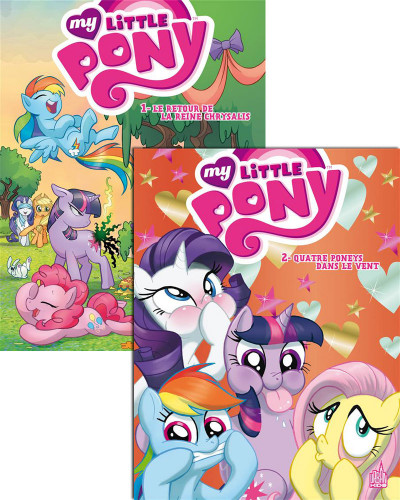Couverture My little pony tome 1 et tome 2 + DVD