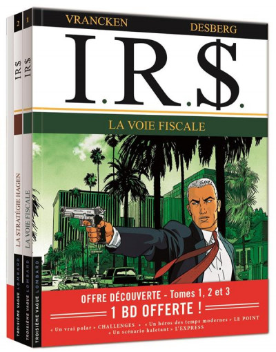 Couverture I.R.$. tomes 1 à 3 (pack découverte)