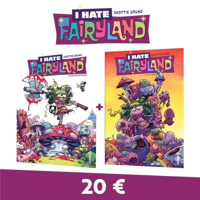 Couverture I hate fairyland - pack tomes 1 + 2