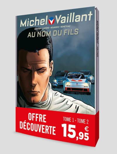 Couverture Michel Vaillant - nouvelle saison - pack tomes 1 et 2