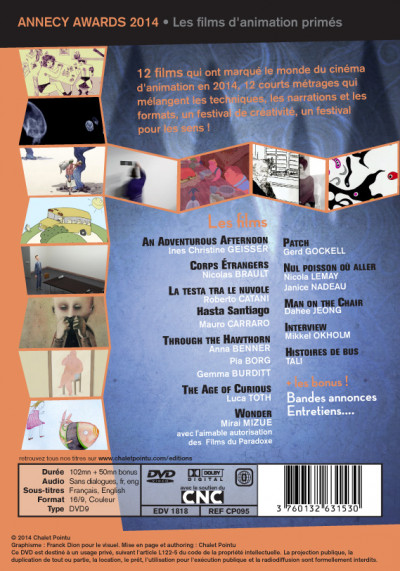 Page 1 annecy awards 2014 - dvd