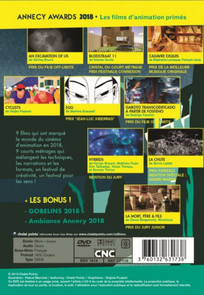 Dos DVD Annecy Awards 2018