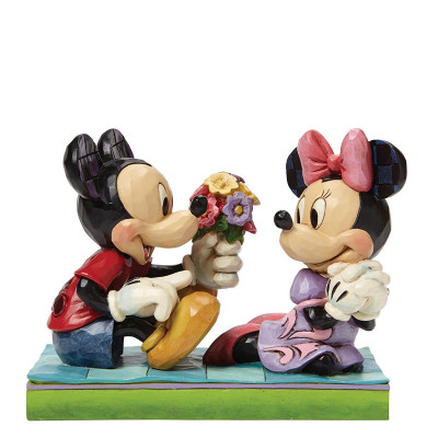 Couverture Figurine Mickey et Minnie flowers just for you