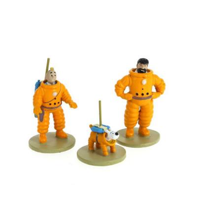 Couverture Tintin coffret Lune - 3 mini figurines – série limitée