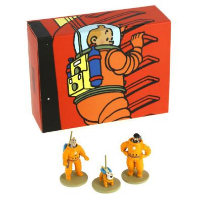 Page 1 Tintin coffret Lune - 3 mini figurines – série limitée