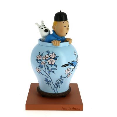 Couverture Tintin Potiche Lotus bleu