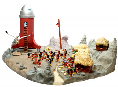 Page 2 Le Cosmoschtroumpf et le Village Schlips