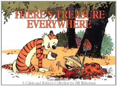 Couverture Calvin and Hobbes - there's a treasure everywhere