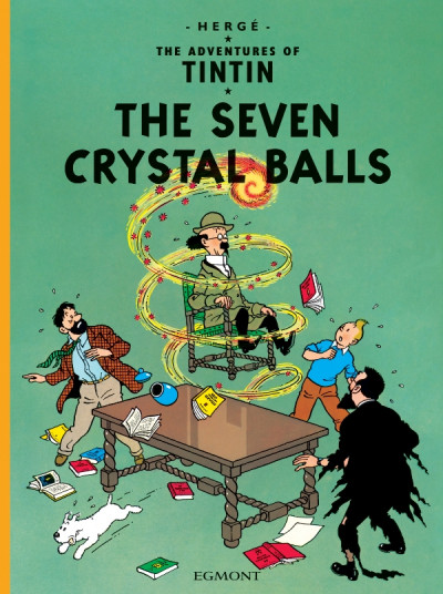 Couverture The adventures of Tintin tome 13 - the seven crystal balls - tintin en anglais