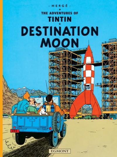 Couverture The adventures of Tintin tome 16 - destination moon - tintin en anglais