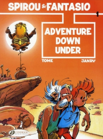 Couverture Spirou and Fantasio tome 1 - adventure down under - en anglais