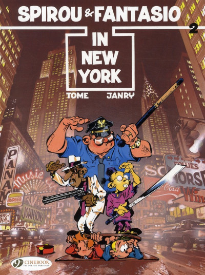 Couverture Spirou and fantasio tome 2 - in new york - en anglais