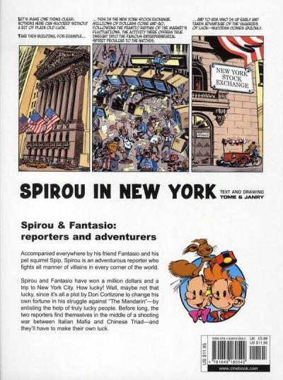 Dos Spirou and fantasio tome 2 - in new york - en anglais