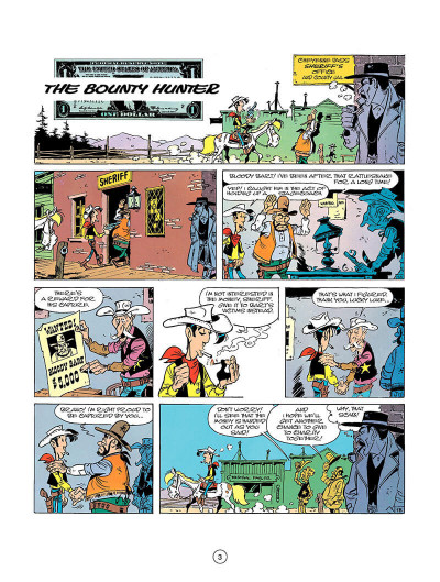Page 2 Lucky Luke tome 26 - the bounty hunter (en anglais)