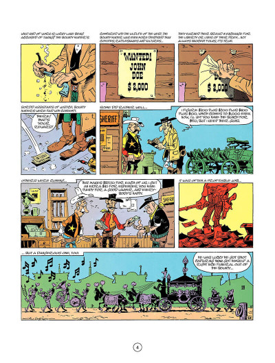 Page 3 Lucky Luke tome 26 - the bounty hunter (en anglais)