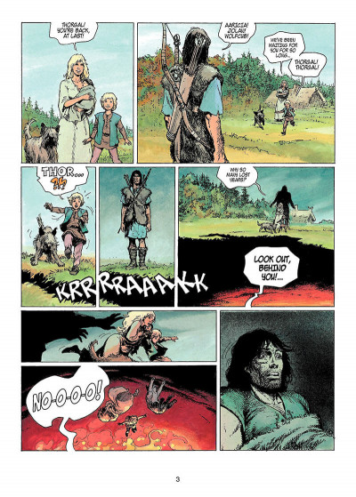 Page 2 Thorgal tome 11 - the invisible fortress - en anglais